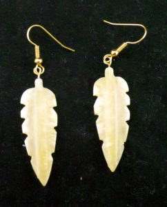 Caribou Antler Feather Earrings